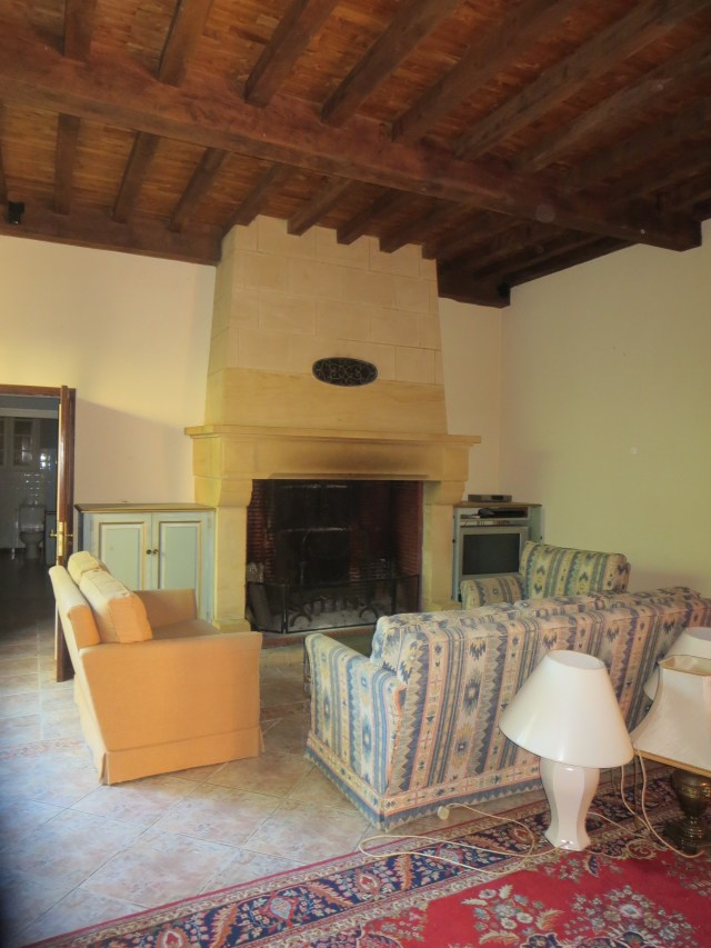 The Living Room toward the fireplace.