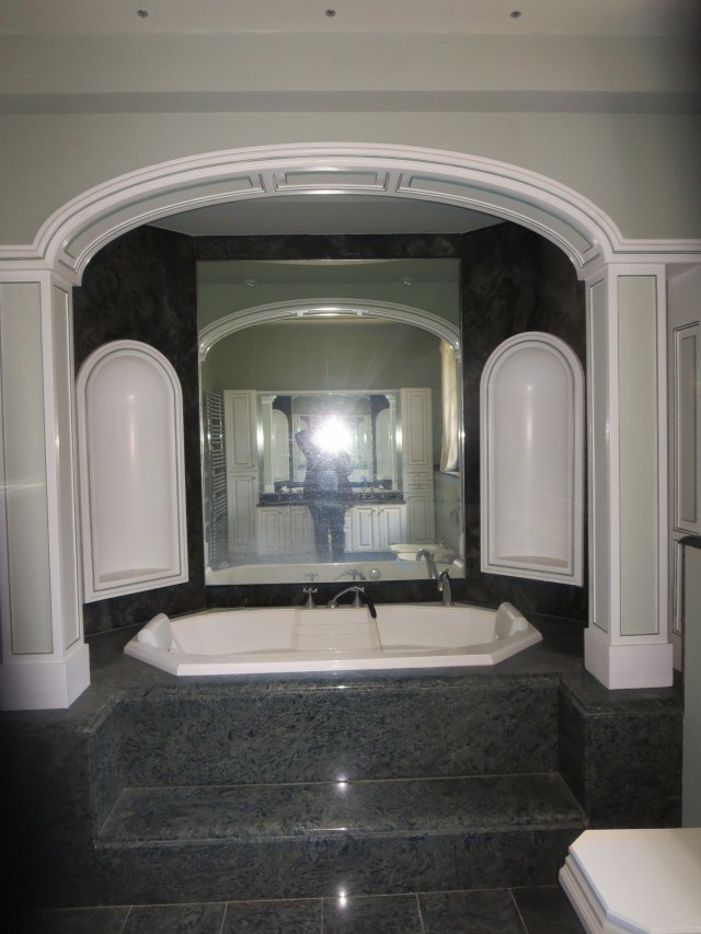 """What I have lovingly coined """"The Princess Bathroom."""" (Our master bath. Yes, it's getting gutted.)"""