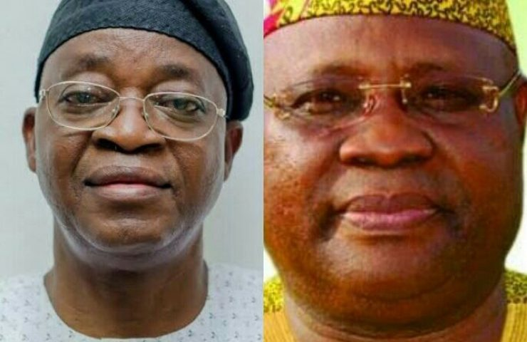 Image result for ADELEKE OYETOLA heavy blow! pdp looks in shock as adeleke gets fresh shocker that favours oyetola of apc HEAVY BLOW! PDP LOOKS IN SHOCK AS ADELEKE GETS FRESH SHOCKER THAT FAVOURS OYETOLA OF APC Oyetola adeleke 1 686x445