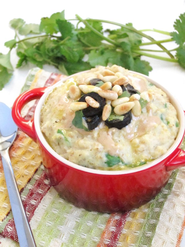 Savory Greek Oatmeal #vegan