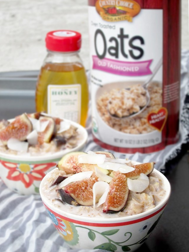 Coconut, Honey, and Fig Oatmeal by the Oatmeal Artist #vegan