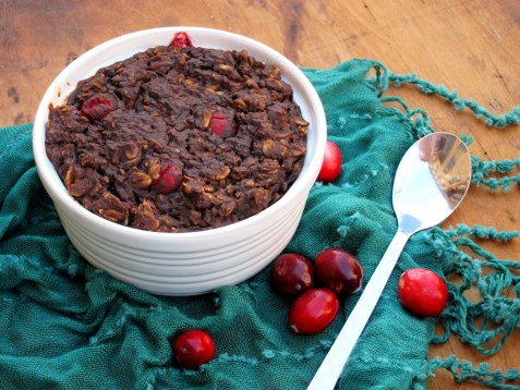 cranberry brownie baked oatmeal (1)