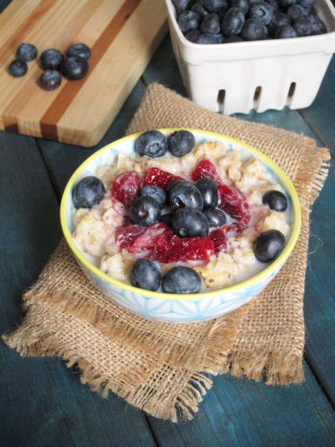 Blood Orange and Berry Oatmeal