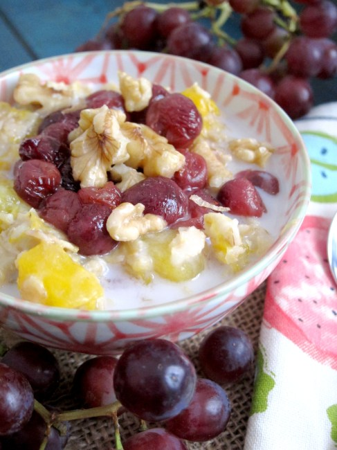 Mango & Roasted Grape Oatmeal #oatmealartist