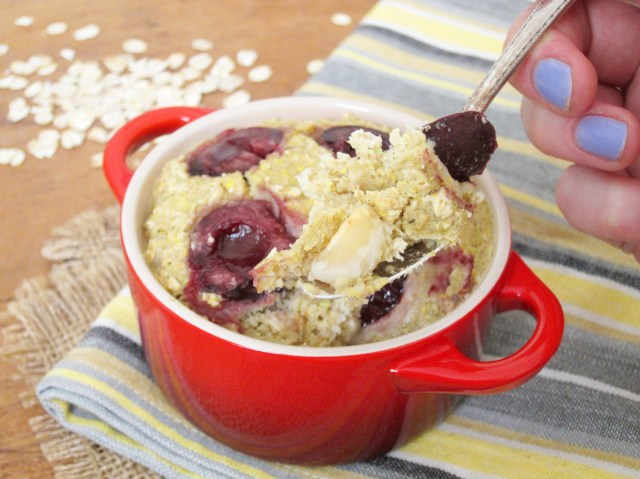 Cherry Macadamia Baked Oatmeal by The Oatmeal Artist