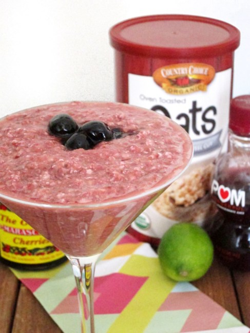 Shirley Temple Overnight Oatmeal - The Oatmeal Artist #vegan