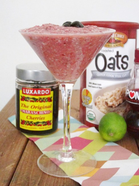 Shirley Temple Overnight Oatmeal - The Oatmeal Artist
