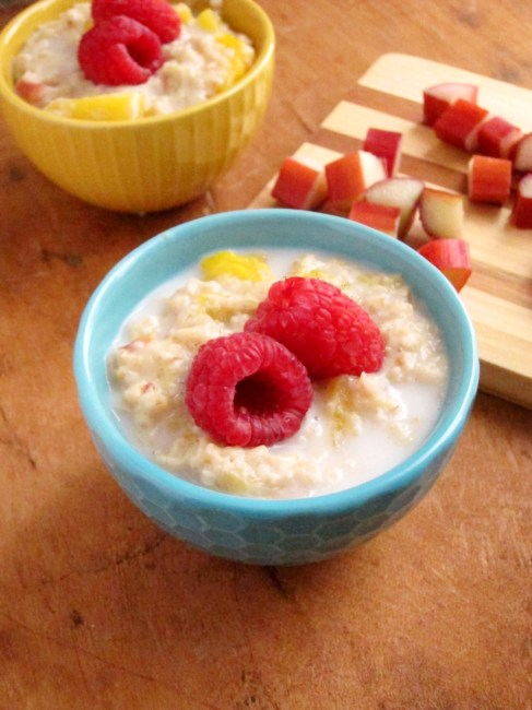 Rhubarb Mango Oatmeal by The Oatmeal Artist