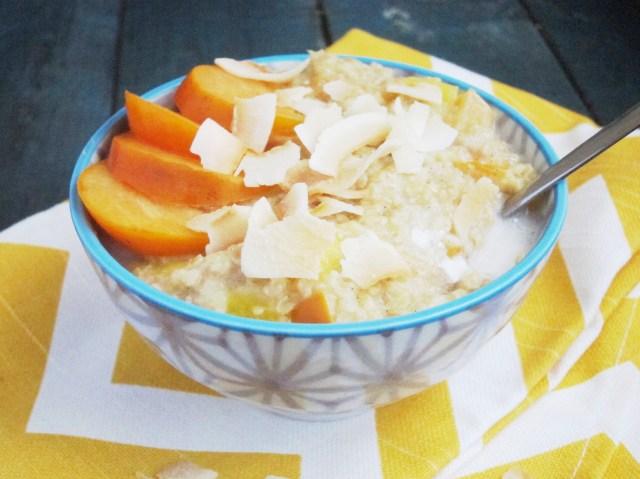 Mango Persimmon Oatmeal #vegan #oatmealartist