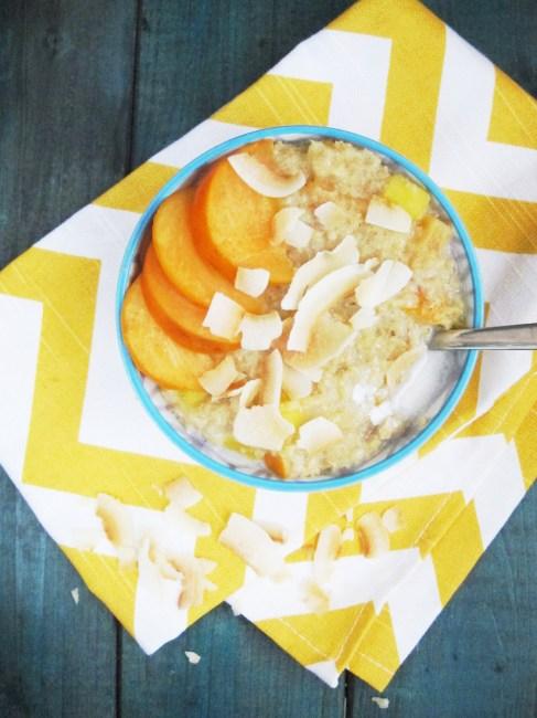 Mango Persimmon Oatmeal #vegan