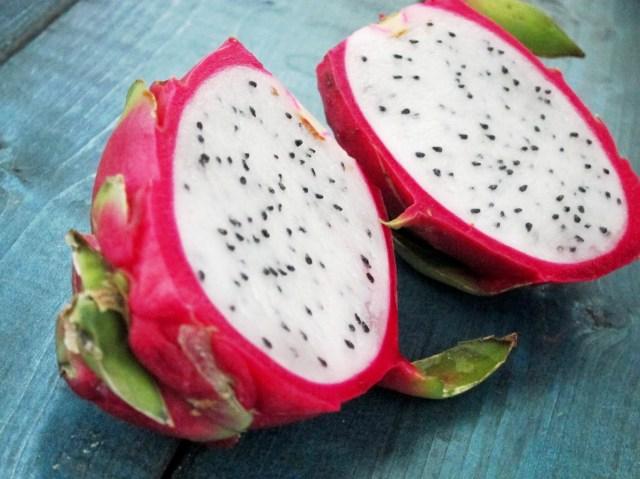 Spiced Peach and Dragon Fruit Oatmeal - Dragon Fruit
