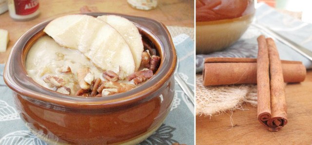 Apple Oatmeal with Tahini and Honey - Sub agave or maple syrup to make it vegan!