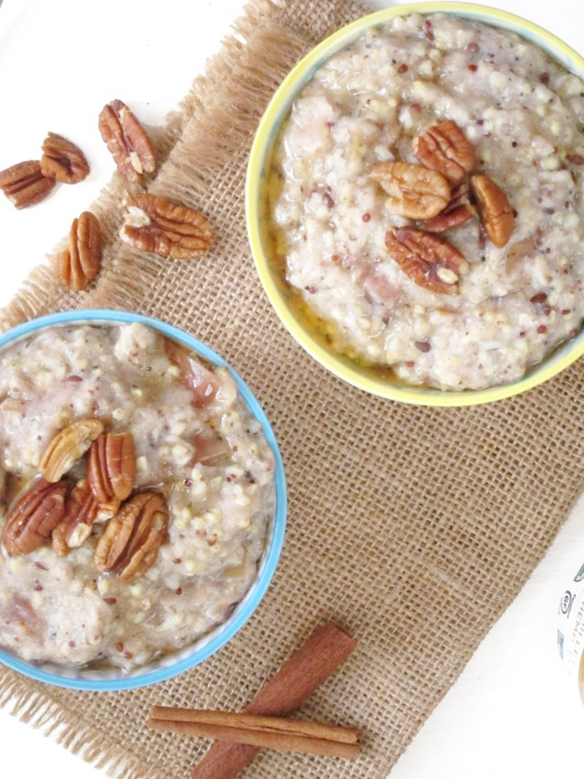 Applesauce Oatmeal by #oatmealartist using Purely Elizabeth Ancient Grains Oatmeal
