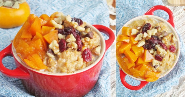 Spiced Persimmon Oatmeal by the Oatmeal Artist #vegan