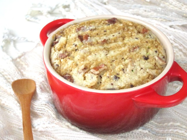 Turtle Cheesecake Baked Oatmeal #vegan #oatmealartist