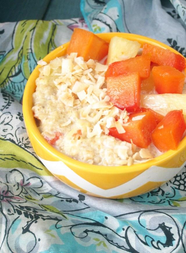 Pina Papaya Oatmeal #OatmealArtist