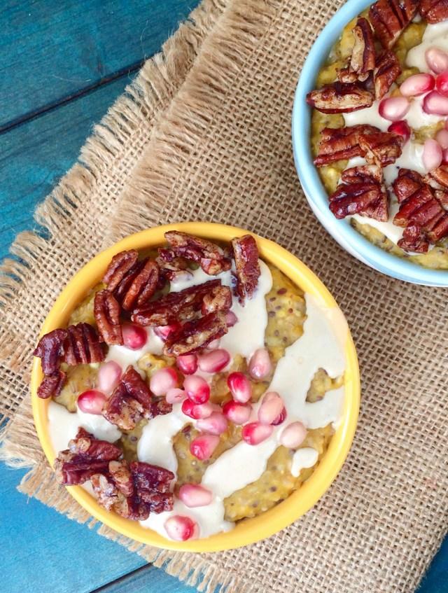 kabocha-pomegranate-oatmeal-with-tahini-and-pecans