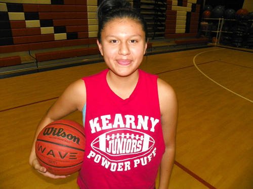 Photo by Jim Hague Kearny senior Abigail Yanchapanta showed a major improvement as a starter for the Kearny girls' basketball team.