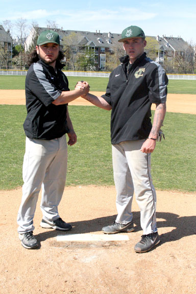 Photo by Ira Thor Nick D'Errico (l.) and Kevin DeMauro became key components as the New Jersey City University enjoyed its best season in recent memory, winning 17 games. The two young men from Kearny played huge roles for the Gothic Knights this spring.