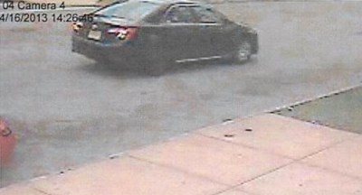 Cameras caught suspects' vehicle, possibly a 2007-2009 Toyota, and one actor prior to committing a robbery.