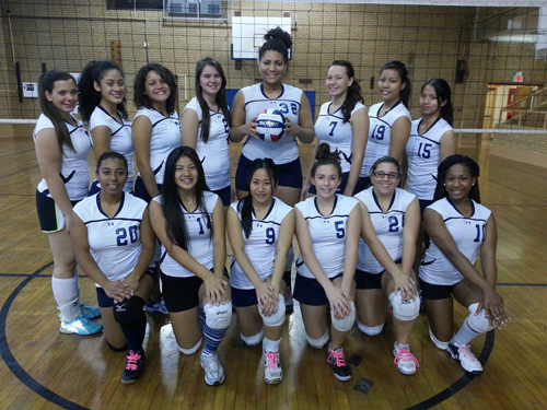 Photo courtesy John Spina The Belleville girls' volleyball team owns an impressive 19-2 record, a vast improvement from just two seasons ago, when they won just three times. Back row, from l., are Jenna Lombardi, Fiorelys Perez, Breana Nieves, Kayla Sica, Shatia Silas, Chloe Mecka, Abigail Ocaya and Gabriella Tabago. Front row, from l., are Dashel Arizmendi, Andrea Nugent, Kirsten De La Cruz, Kristan Lombardi, Barbara Jacangelo and Ariana Douglass.