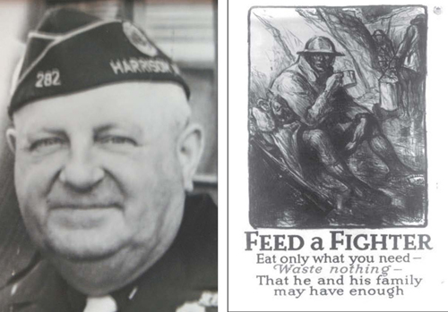 Is former Post Commander George 'Holschuh' haunting American Legion building? Will 1918 poster produce a reaction from the World War I veteran?