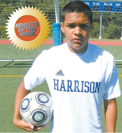 Photo by Jim Hague Harrison senior center midfielder Kevin Villanueva