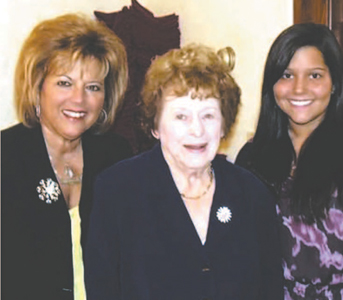 Photos courtesy Bernadette Antonelli Bernadette Antonelli (l.), her mother, the late Alice Belfiore, and her daughter Brianna Antonelli at Arlington Tax & Bookkeeping Service in Kearny.