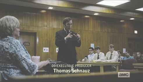Schnauz's name in the opening credits of episode 1 of 'Better Call Saul.'