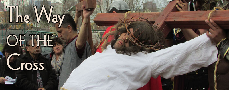 Sights from today's Way of the Cross at West Hudson Park [St