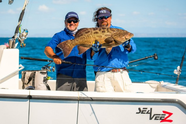 Julio and Carter with gulf grouper