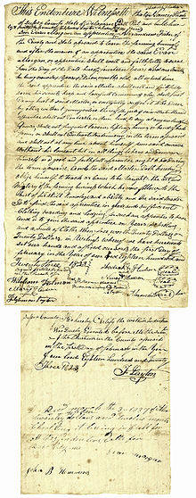 "Indenture form for six year old Evan Morgan dated 1823 in Delaware making him a ""servant"" for 14 years and 1 month. Who signed for him?"