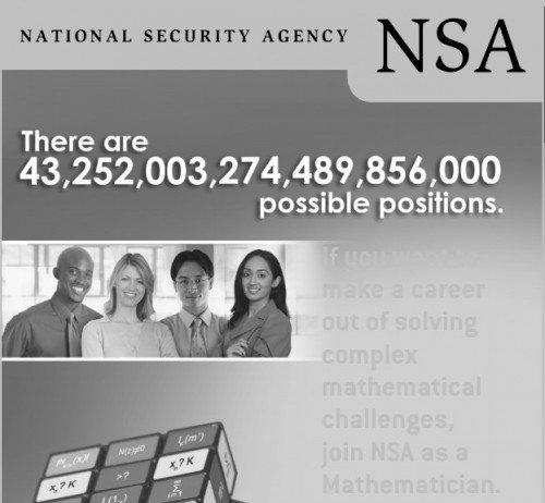 NSA advert