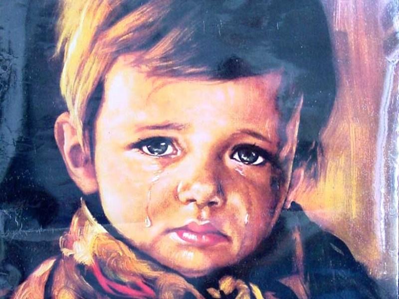 5 peintures hantées - Le garçon qui pleure de Giovanni Bragolin