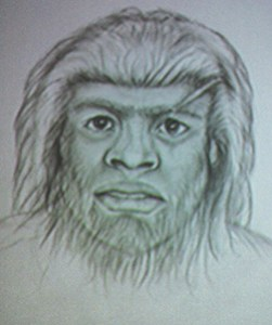 sketch of a Bigfoot from Morehead, kentucky