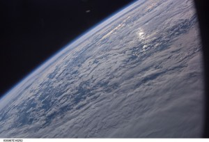 A UFO was apparently captured in a NASA photograph of the Earth