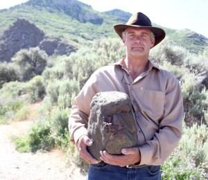 Todd May of Ogden believes he has found a fossil Bigfoot skull.