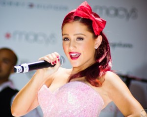Ariana Grande of Nickelodeon shows Victorious and Samd and Cat encounters some demons