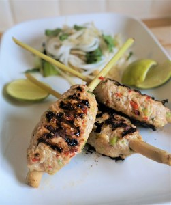 Lemongrass pork skewers vietnamese bbq recipe