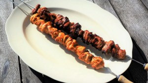 Chicken Souvlaki - Chicken Kebabs by Theo Michaels Greek BBQ
