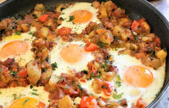 Corned Beef Hash | My Recipe For Corned Beef Hash with Baked Eggs