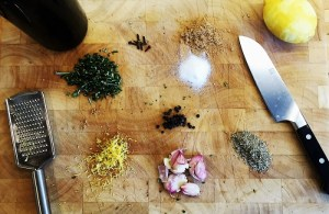 Lemon Garlic Dressing Ingredients - lemon vinaigrette