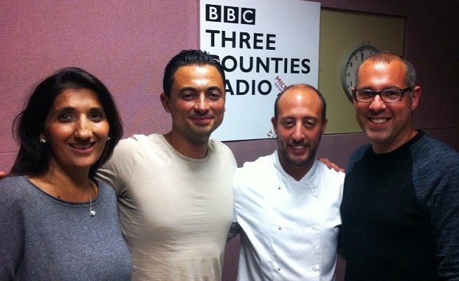 Talking & eating with Nick Coffer on BBC 3 Counties Radio Weekend Kitchen