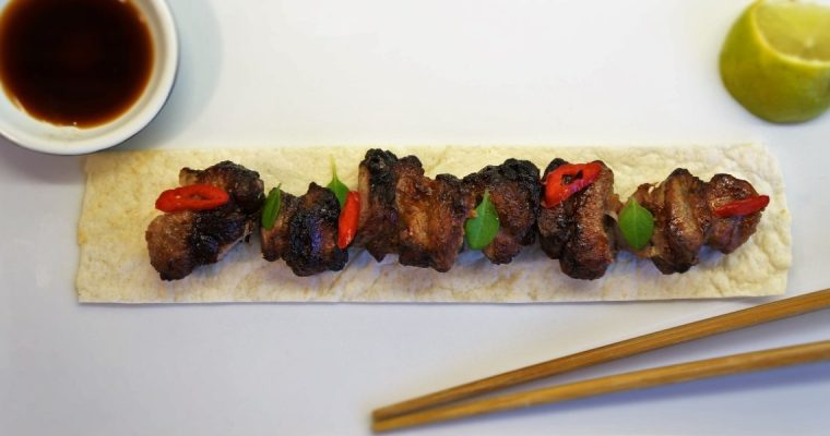 Pork Kebabs with Asian spice (BBQ Chinese Pork Souvlaki)