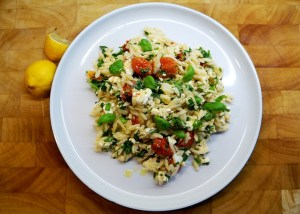Orzo Feta Salad Recipe by Theo Michaels Orzo recipes, Greek recipes, Masterchef