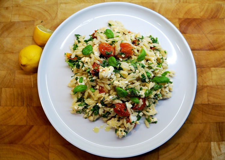 Orzo Salad | Orzo and Feta Salad – a bowl of sunshine!