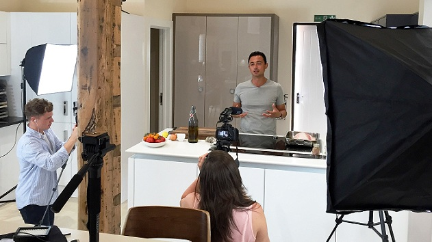 Just finished filming my first series for Simply Good Food TV