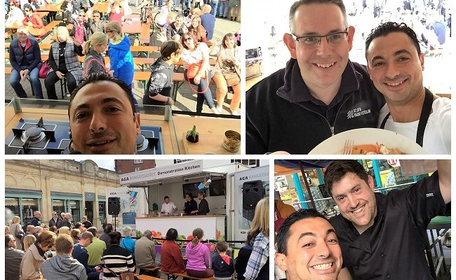 St Albans Food Festival 2016 with Theo's cooking demo (microwave mug meals)