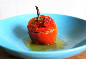 Greek Stuffed Peppers Gemista by Theo Michaels