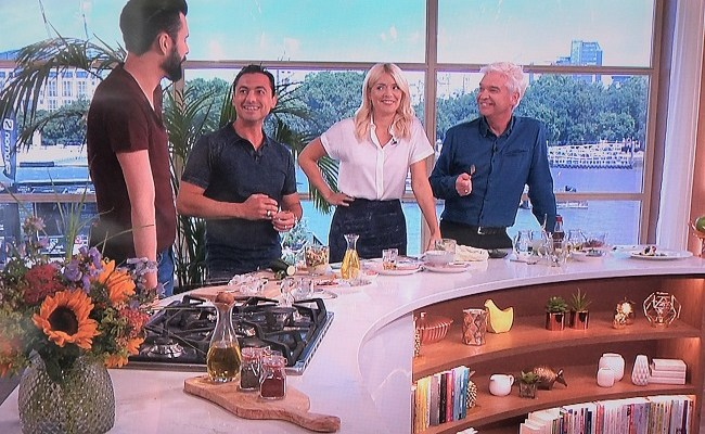 Theo's Guest Chef Appearance on ITV This Morning June 2017